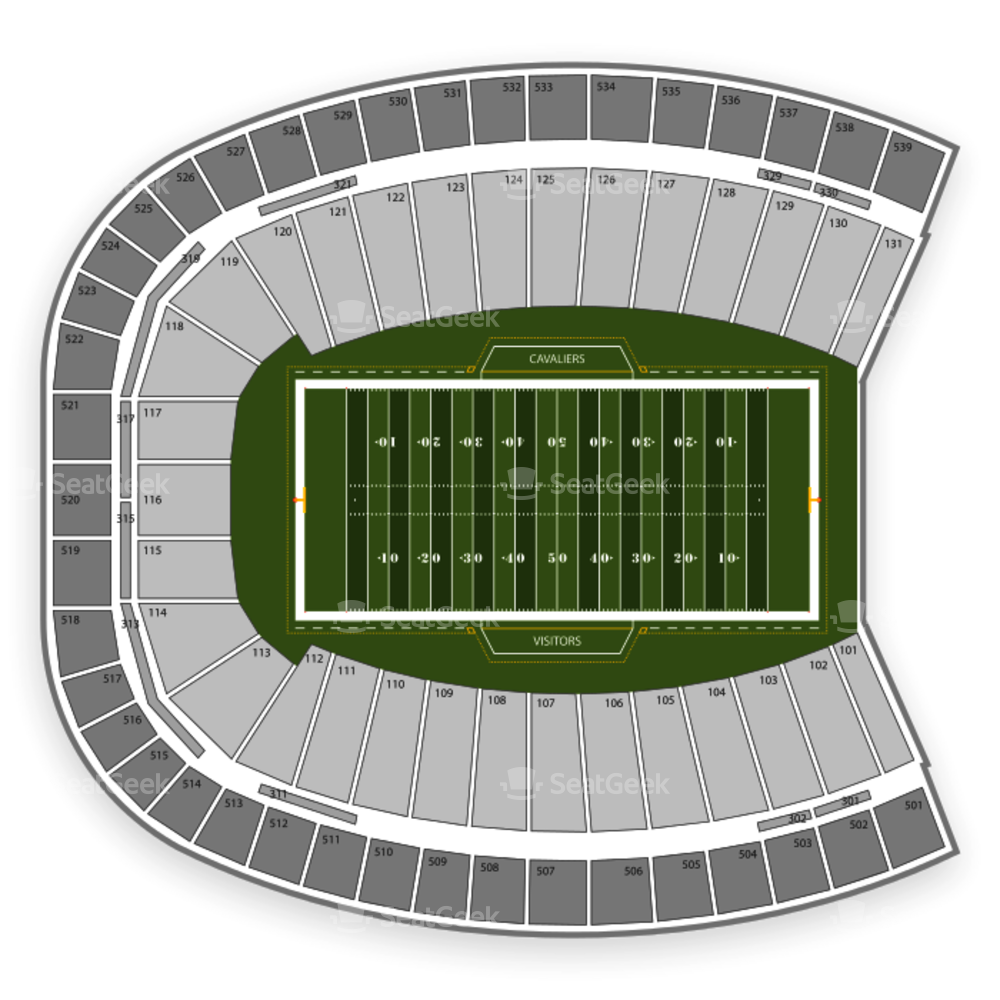 Virginia Cavaliers Football Seating Chart