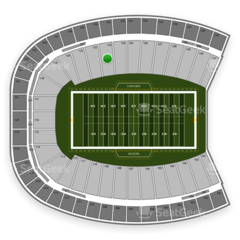 Virginia Cavaliers Football at Scott Stadium Section 123 View