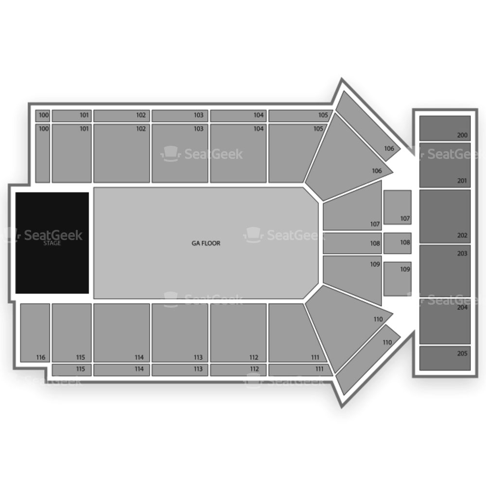 Tyson Events Center Seating Chart Concert