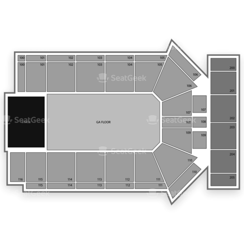 Tyson Events Center Seating Chart Map Seatgeek