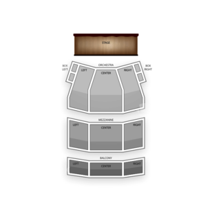 DuPont Theatre Seating Chart Theater