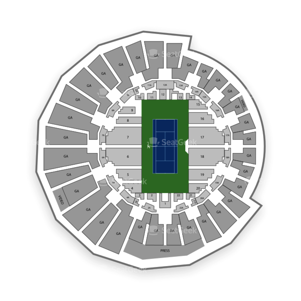 Grandstand at the Billy Jean King Tennis Center Seating Chart