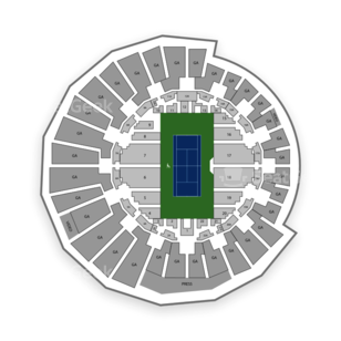 Grandstand Seating Chart Tennis