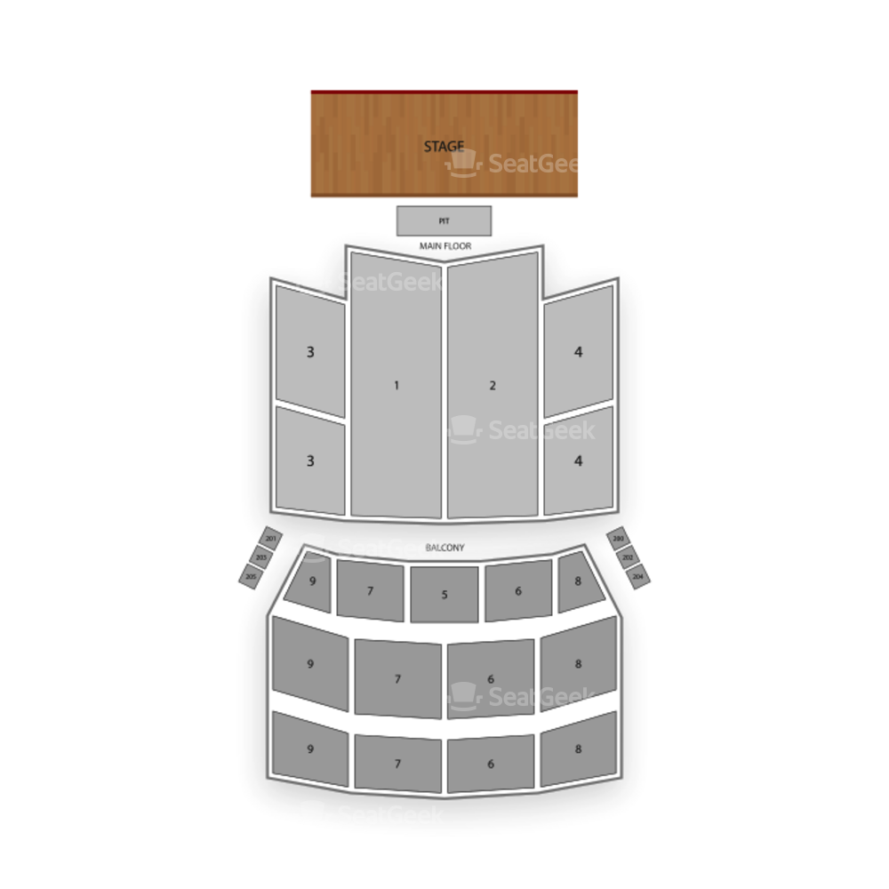 Orpheum Theatre Seating Chart Parking