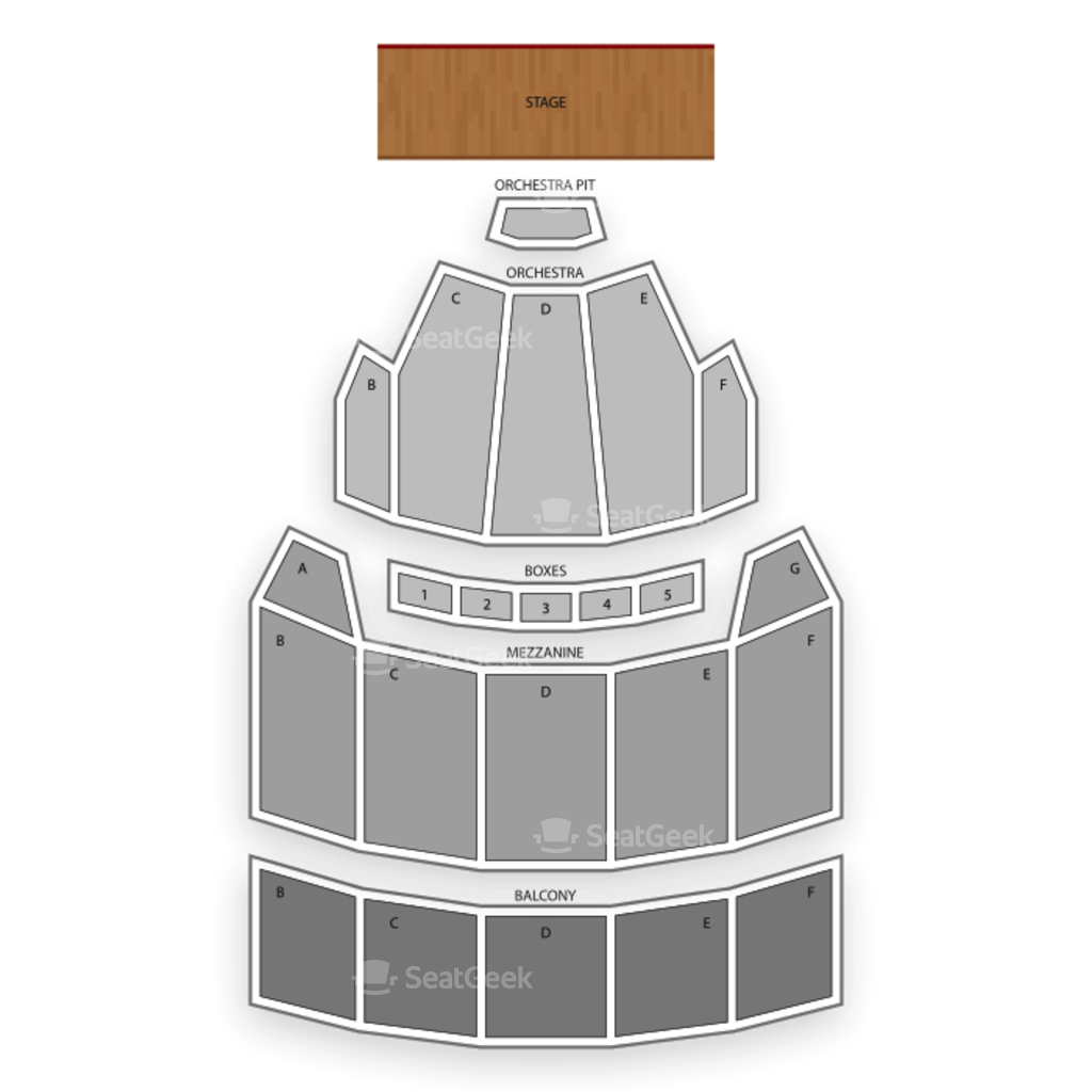 The bushnell seating chart interactive seat map seatgeek