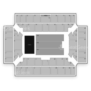 Broome County Veterans Memorial Arena Seating Chart Concert