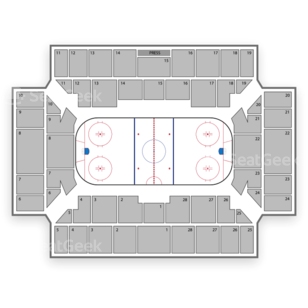 Binghamton Senators Seating Chart