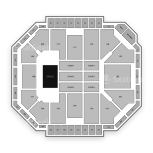 Ted Constant Convocation Center Seating Chart Concert