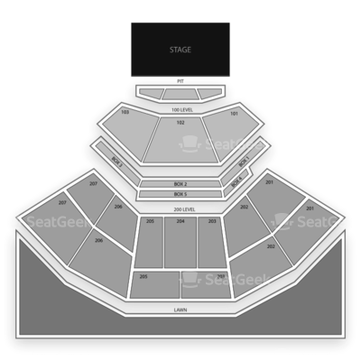 Aaron's Amphitheatre at Lakewood seating chart 5 Seconds of Summer