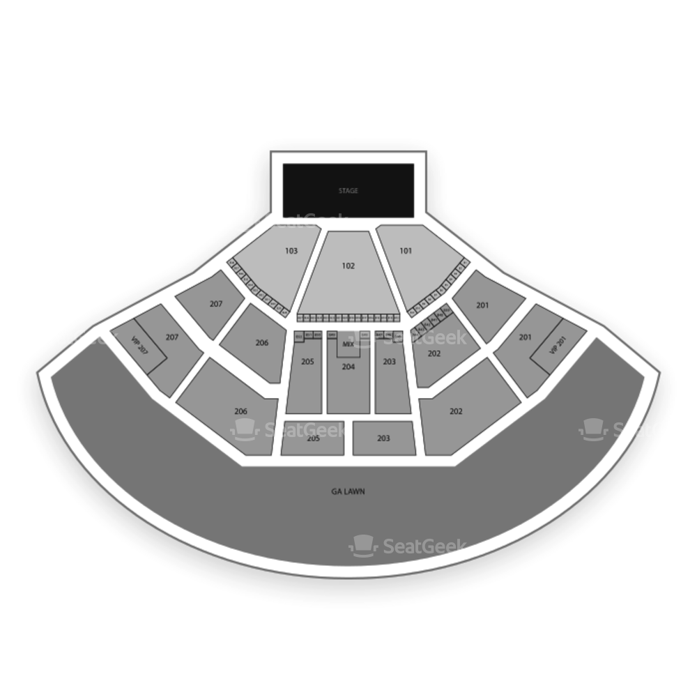 Lakewood Amphitheatre Seating Chart Parking