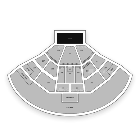 Aarons Amphitheatre at Lakewood seating chart Blake Shelton