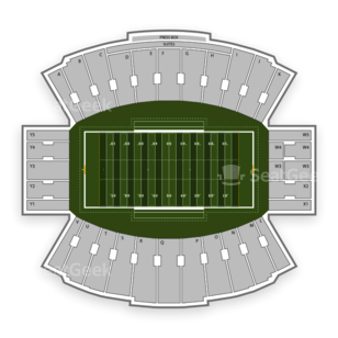Ladd-Peebles Stadium Seating Chart NCAA Football