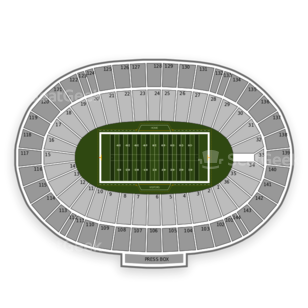 Cotton Bowl Seating Chart NCAA Football