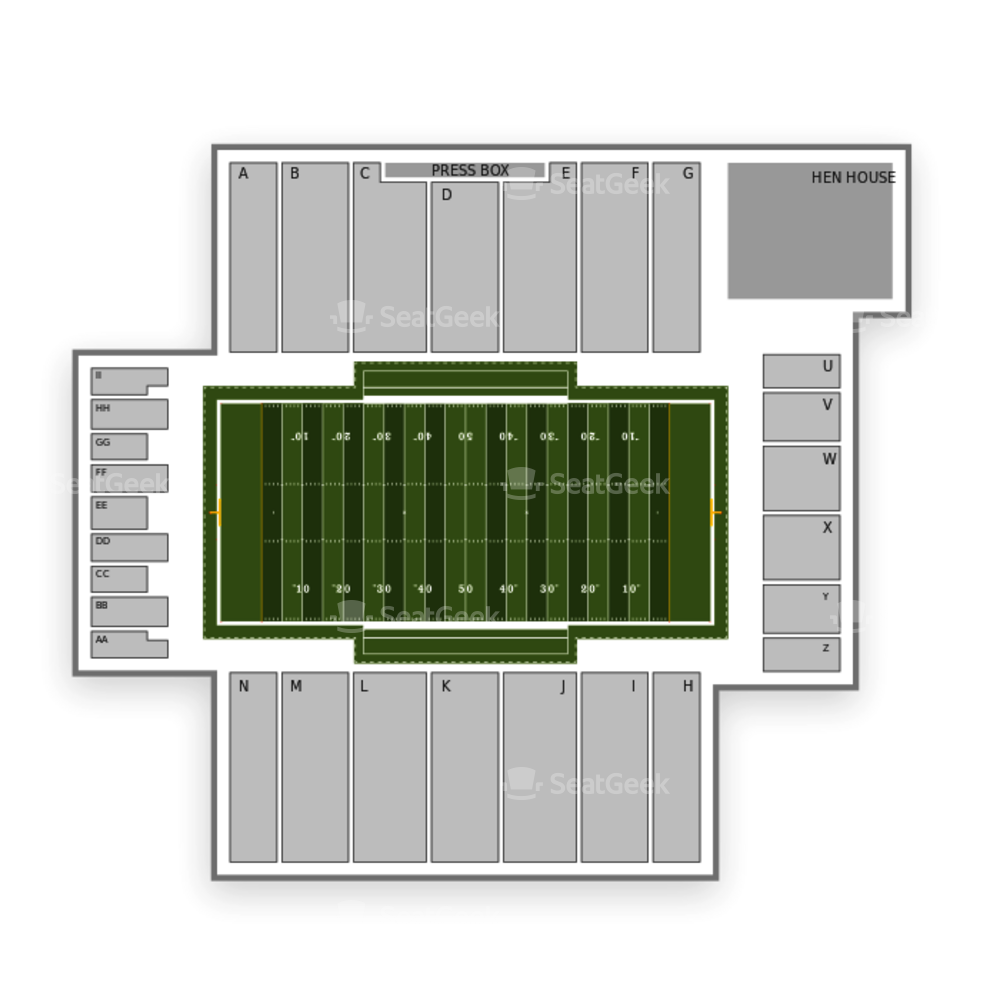 Delaware Fightin Blue Hens Football Seating Chart