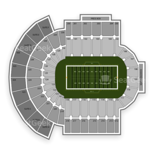 Independence Stadium Seating Chart NCAA Football