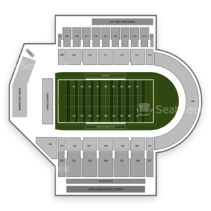 Appalachian State Mountaineers Football Seating Chart