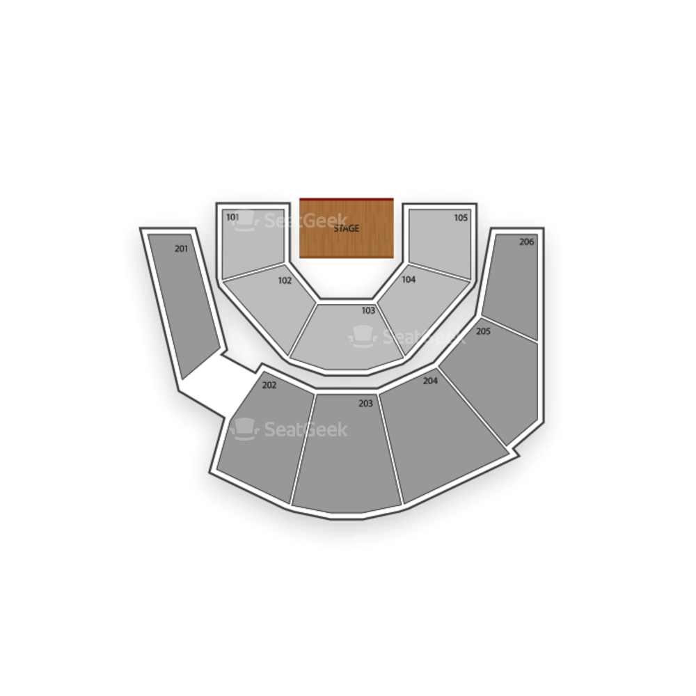 Treasure Island - Mystere Theater Seating Chart Comedy