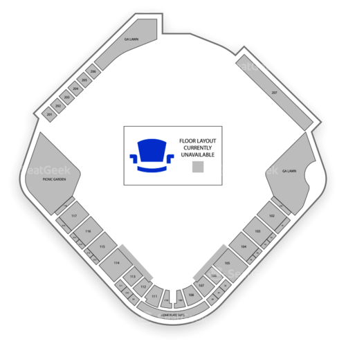 Four Winds Field at Coveleski Stadium Seating Chart Concert