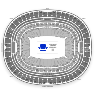 Georgia Dome Seating Chart Music Festival