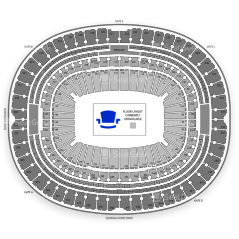 Georgia Dome seating chart Monster Jam