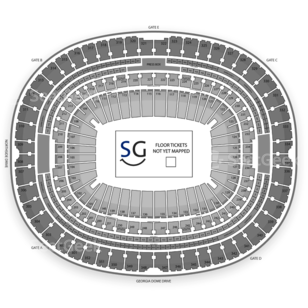 Georgia Dome Seating Chart Football