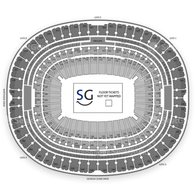 Georgia Dome seating chart Monster Energy AMA Supercross