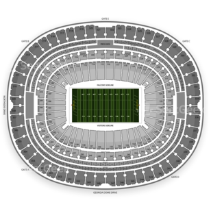 Georgia Dome Seating Chart NCAA Football