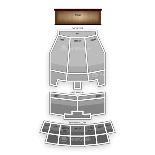 Lila Cockrell Theatre Seating Chart Theater