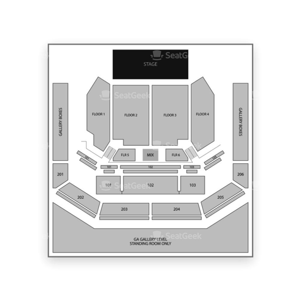 The Cosmopolitan of Las Vegas Seating Chart Concert