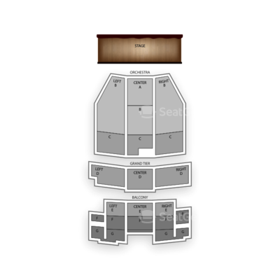 5th Avenue Theatre seating chart Grease