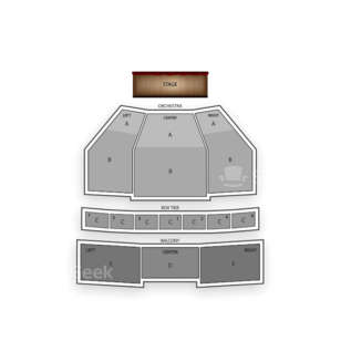 Kennedy Center Eisenhower Theater Seating Chart Theater