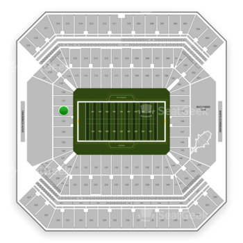 Tampa Bay Buccaneers at Raymond James Stadium Section 122 View