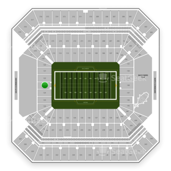 Tampa Bay Buccaneers at Raymond James Stadium Section 123 View