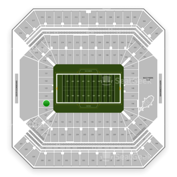 Tampa Bay Buccaneers at Raymond James Stadium Section 125 View