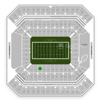 Tampa Bay Buccaneers at Raymond James Stadium Section 133 View