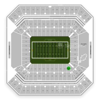 Tampa Bay Buccaneers at Raymond James Stadium Section 140 View