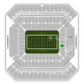 Tampa Bay Buccaneers at Raymond James Stadium Section 147 View