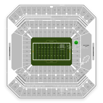 Tampa Bay Buccaneers at Raymond James Stadium Section 150 View