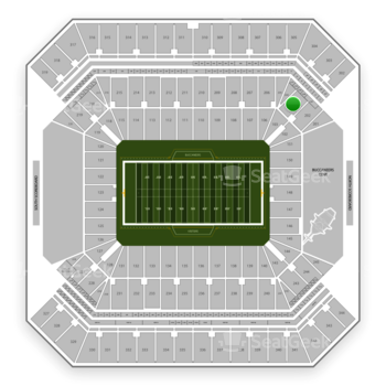 Tampa Bay Buccaneers at Raymond James Stadium Section 203 View