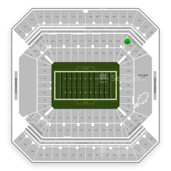 Tampa Bay Buccaneers at Raymond James Stadium Section 204 View