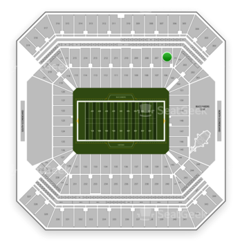 Tampa Bay Buccaneers at Raymond James Stadium Section 206 View