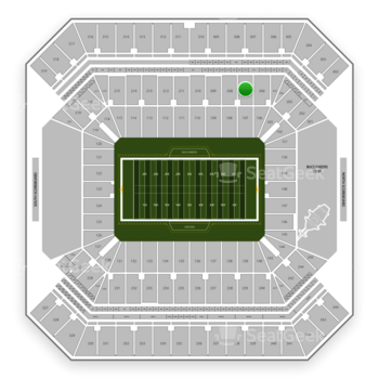 Tampa Bay Buccaneers at Raymond James Stadium Section 207 View