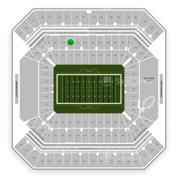 Tampa Bay Buccaneers at Raymond James Stadium Section 213 View