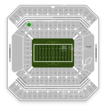 Tampa Bay Buccaneers at Raymond James Stadium Section 216 View