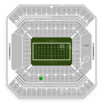 Tampa Bay Buccaneers at Raymond James Stadium Section 233 View