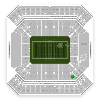 Tampa Bay Buccaneers at Raymond James Stadium Section 241 View