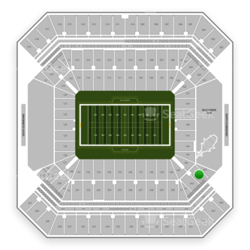 Tampa Bay Buccaneers at Raymond James Stadium Section 244 View