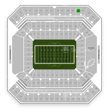 Tampa Bay Buccaneers at Raymond James Stadium Section 306 View