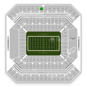 Tampa Bay Buccaneers at Raymond James Stadium Section 311 View