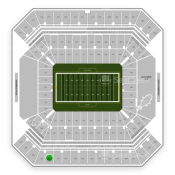 Tampa Bay Buccaneers at Raymond James Stadium Section 331 View
